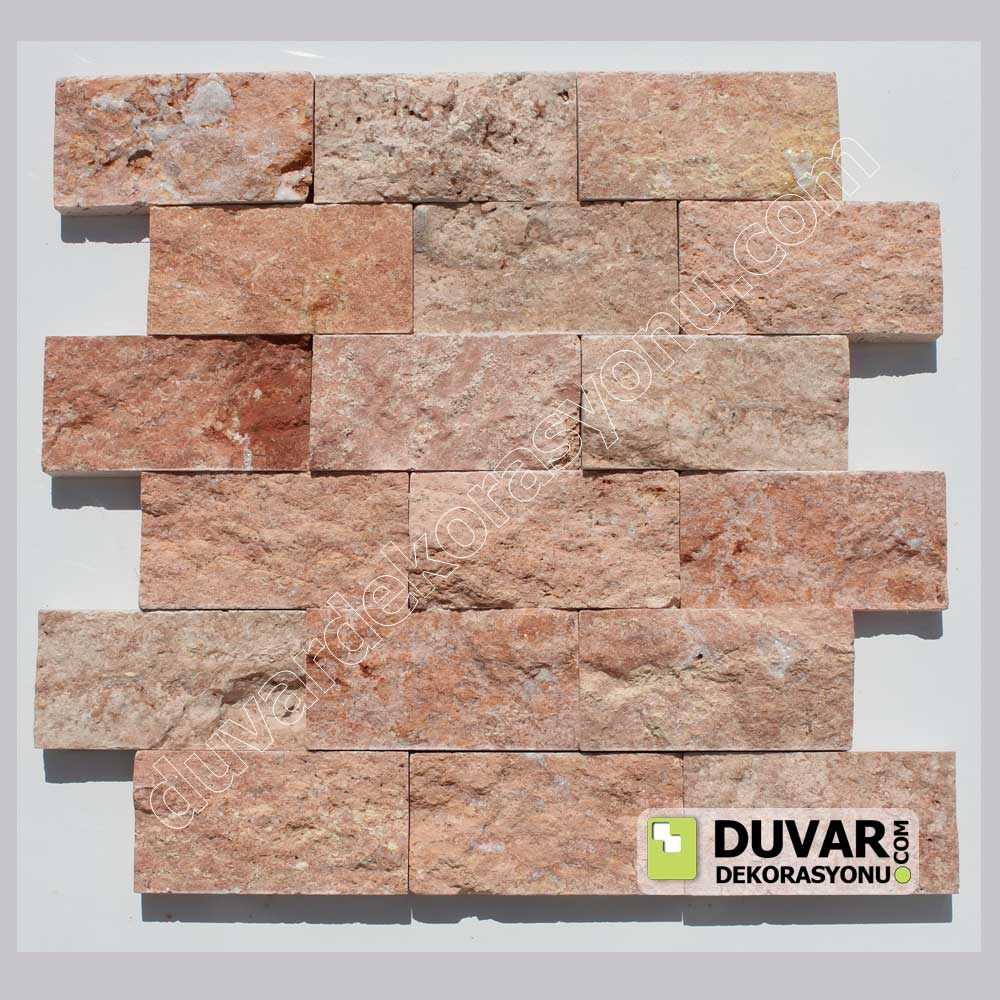 Red Traverten Split Face Natural Stone Mosaics