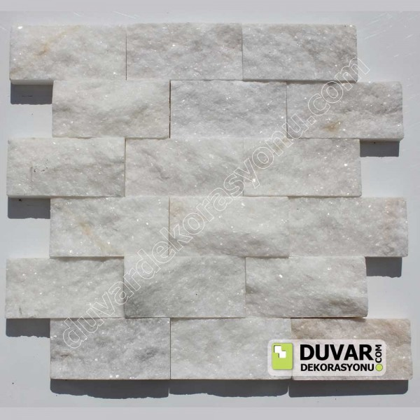 White Marble Split Face Natural Stone Mosaıcs
